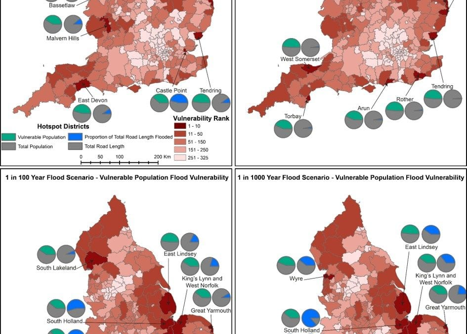 Research Findings – Evaluating the vulnerability 'hotspots' for road network flooding in England