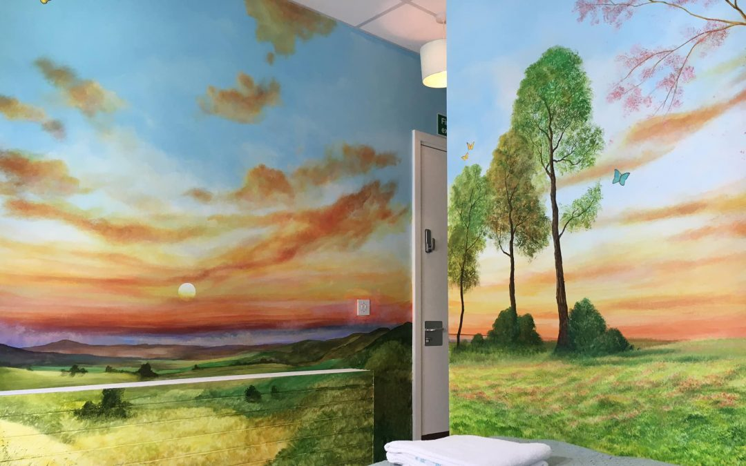 New Mural for Tranquil Family Room in Cirencester