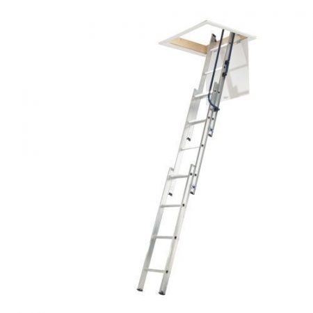 3 Section Loft Ladder with Handrail