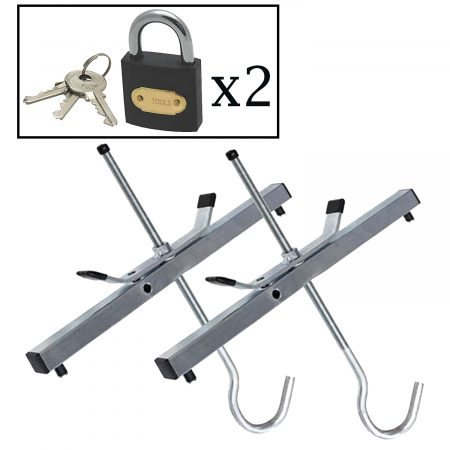 Heavy Duty Roof Rack Ladder Clamps with Padlocks