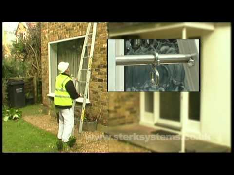 3 Section Window Cleaners Ladder   Centaure Window Cleaners Ladder