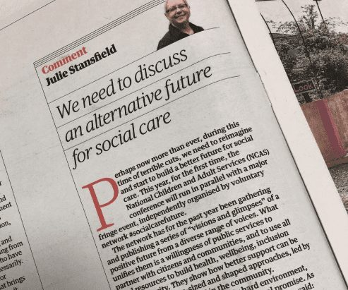 An alternative future in Health and Social Care