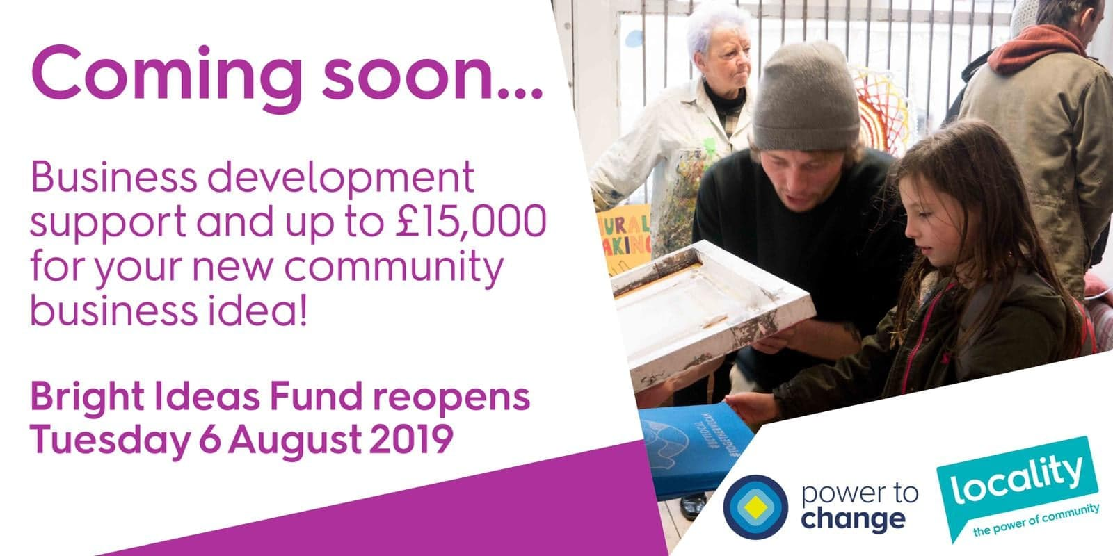 People with Bright Ideas for a community business urged to apply for share of £3.2m fund