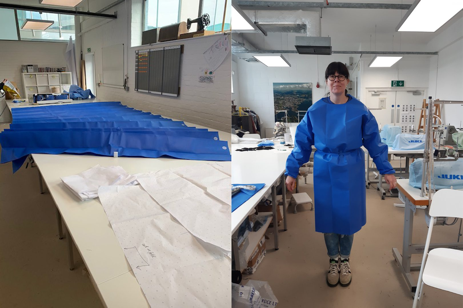 Makers HQ supports Plymouth health workers by making workwear for COVID-19 testing site