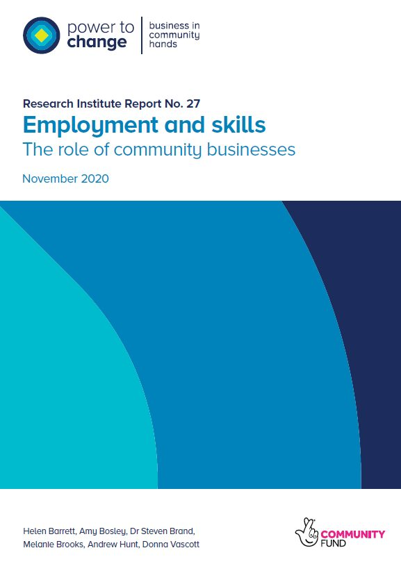Employment and skills – the role of community businesses