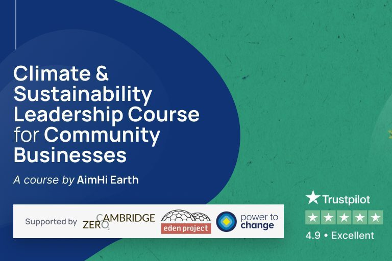 Climate & Sustainability Leadership Course for community business